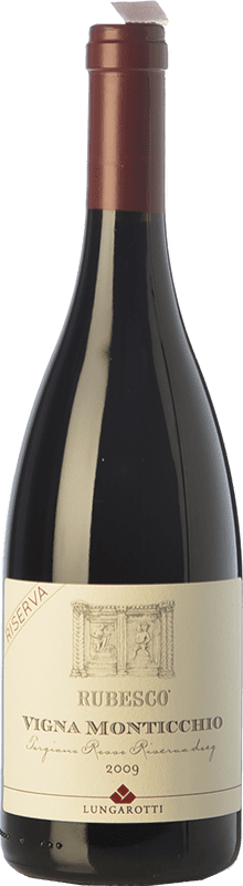 38,95 € Envoi gratuit | Vin rouge Lungarotti Rubesco Vigna Monticchio Reserva D.O.C.G. Torgiano Rosso Riserva Ombrie Italie Sangiovese, Canaiolo Bouteille 75 cl