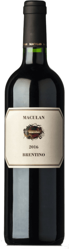 13,95 € | Red wine Maculan Brentino I.G.T. Veneto Veneto Italy Merlot, Cabernet Sauvignon Bottle 75 cl