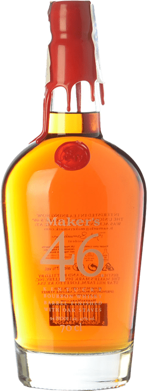 53,95 € Free Shipping | Bourbon Maker's Mark 46 Kentucky United States Bottle 70 cl