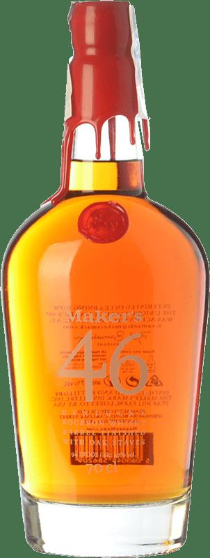 53,95 € 免费送货   波旁酒 Maker's Mark 46 肯塔基 美国 瓶子 70 cl