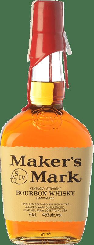 26,95 € 免费送货   波旁酒 Maker's Mark Original 肯塔基 美国 瓶子 75 cl