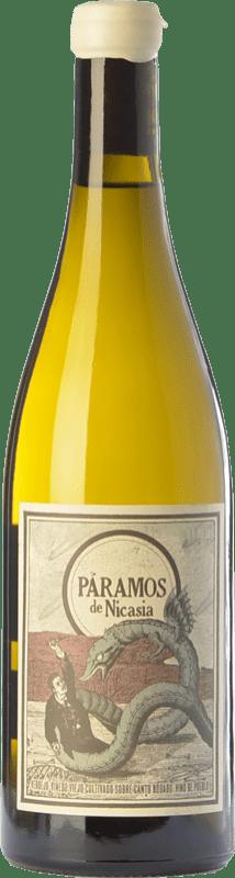 13,95 € Envío gratis | Vino blanco Máquina & Tabla Páramos de Nicasia Crianza D.O. Rueda Castilla y León España Verdejo Botella 75 cl
