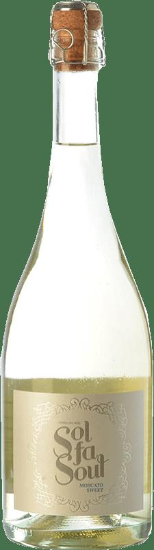 7,95 € 免费送货 | 白起泡酒 Pelleriti Sol Fa Soul Espumante Sweet I.G. Valle de Uco Uco谷 阿根廷 Torrontés, Chardonnay 瓶子 75 cl