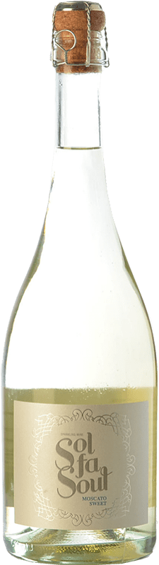 7,95 € Free Shipping | White sparkling Pelleriti Sol Fa Soul Espumante Sweet I.G. Valle de Uco Uco Valley Argentina Torrontés, Chardonnay Bottle 75 cl