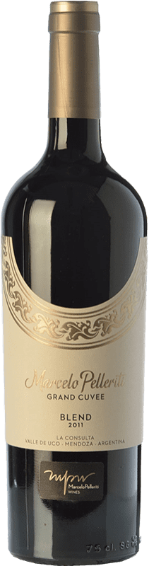 57,95 € Free Shipping | Red wine Pelleriti Grand Cuvée Blend Gran Reserva I.G. Valle de Uco Uco Valley Argentina Cabernet Franc, Malbec Bottle 75 cl
