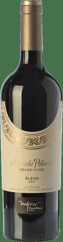 57,95 € Envío gratis | Vino tinto Pelleriti Grand Cuvée Blend Gran Reserva I.G. Valle de Uco Valle de Uco Argentina Cabernet Franc, Malbec Botella 75 cl