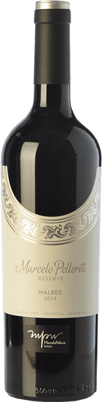 19,95 € 免费送货 | 红酒 Pelleriti Reserve Reserva I.G. Valle de Uco Uco谷 阿根廷 Malbec 瓶子 75 cl