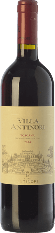 16,95 € Free Shipping | Red wine Marchesi Antinori Villa Antinori Rosso I.G.T. Toscana Tuscany Italy Merlot, Syrah, Cabernet Sauvignon, Sangiovese Bottle 75 cl