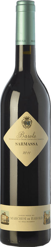 56,95 € Free Shipping | Red wine Marchesi di Barolo Sarmassa D.O.C.G. Barolo Piemonte Italy Nebbiolo Bottle 75 cl