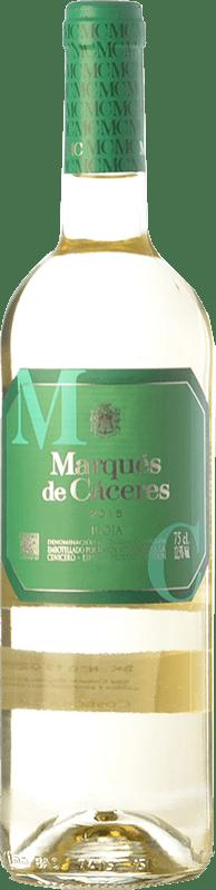 5,95 € 免费送货 | 白酒 Marqués de Cáceres Joven D.O.Ca. Rioja 拉里奥哈 西班牙 Viura 瓶子 75 cl