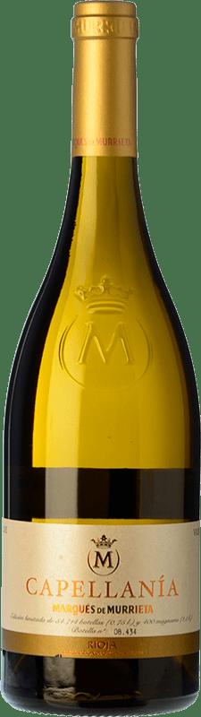 26,95 € 免费送货 | 白酒 Marqués de Murrieta Capellanía Crianza D.O.Ca. Rioja 拉里奥哈 西班牙 Viura 瓶子 75 cl