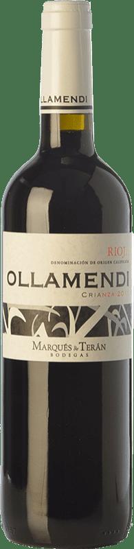 8,95 € Free Shipping | Red wine Marqués de Terán Ollamendi Crianza D.O.Ca. Rioja The Rioja Spain Tempranillo Bottle 75 cl