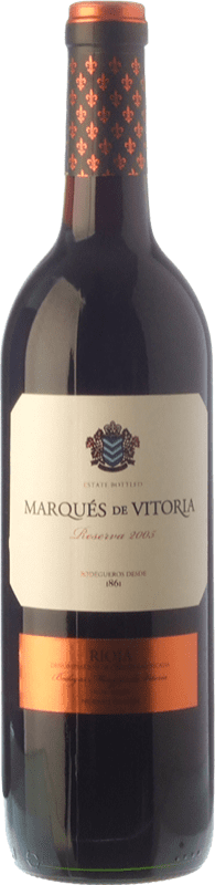 11,95 € | Red wine Marqués de Vitoria Reserva D.O.Ca. Rioja The Rioja Spain Tempranillo Bottle 75 cl