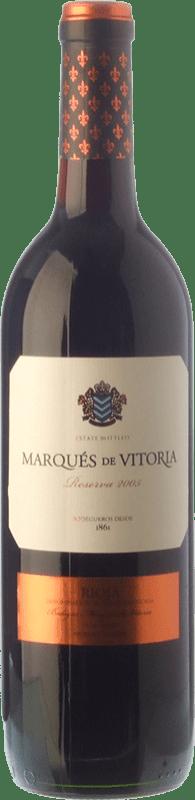 11,95 € Envoi gratuit | Vin rouge Marqués de Vitoria Reserva D.O.Ca. Rioja La Rioja Espagne Tempranillo Bouteille 75 cl