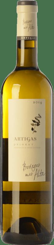 31,95 € Envío gratis | Vino blanco Mas Alta Artigas Blanc Crianza D.O.Ca. Priorat Cataluña España Garnacha Blanca, Macabeo, Pedro Ximénez Botella 75 cl