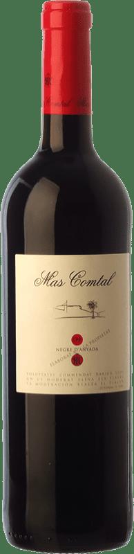 7,95 € Envío gratis | Vino tinto Mas Comtal Negre d'Anyada Joven D.O. Penedès Cataluña España Merlot, Garnacha Botella 75 cl