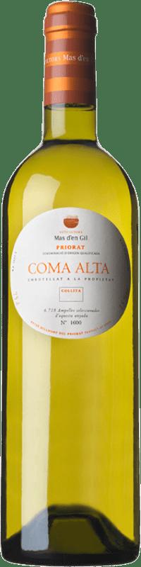 28,95 € Envío gratis | Vino blanco Mas d'en Gil Coma Alta Crianza D.O.Ca. Priorat Cataluña España Garnacha Blanca, Viognier Botella 75 cl