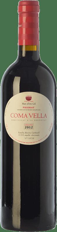 32,95 € Free Shipping | Red wine Mas d'en Gil Coma Vella Crianza D.O.Ca. Priorat Catalonia Spain Merlot, Syrah, Grenache, Cabernet Sauvignon, Carignan, Grenache Hairy Bottle 75 cl