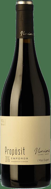 13,95 € Envío gratis | Vino tinto Viníric Propòsit Negre Crianza D.O. Empordà Cataluña España Merlot, Syrah, Cabernet Sauvignon Botella 75 cl