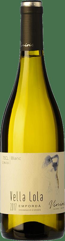 9,95 € Envío gratis | Vino blanco Viníric Vella Lola Blanc D.O. Empordà Cataluña España Garnacha Blanca, Moscatel, Macabeo, Xarel·lo Botella 75 cl