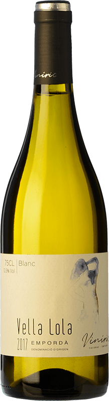 9,95 € Free Shipping | White wine Viníric Vella Lola Blanc D.O. Empordà Catalonia Spain Grenache White, Muscatel, Macabeo, Xarel·lo Bottle 75 cl