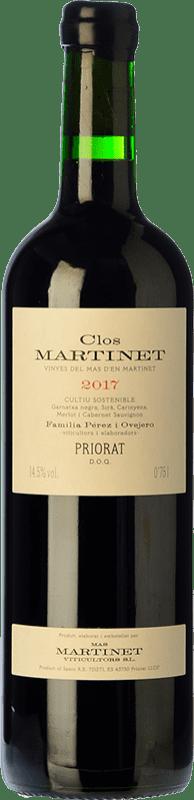 73,95 € Free Shipping | Red wine Mas Martinet Clos Crianza D.O.Ca. Priorat Catalonia Spain Merlot, Syrah, Grenache, Cabernet Sauvignon, Carignan Bottle 75 cl