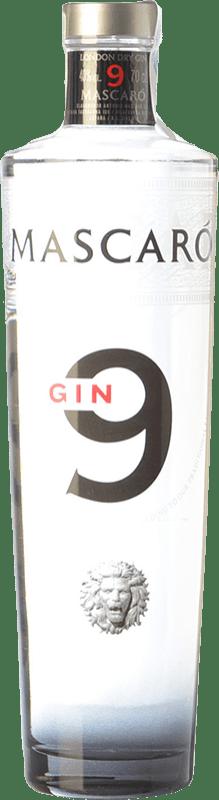 22,95 € 免费送货 | 金酒 Mascaró Gin 9 加泰罗尼亚 西班牙 瓶子 70 cl