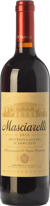 12,95 € 免费送货 | 红酒 Masciarelli D.O.C. Montepulciano d'Abruzzo 阿布鲁佐 意大利 Montepulciano 瓶子 75 cl