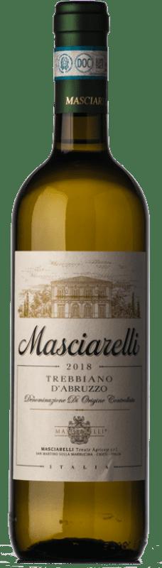 9,95 € 免费送货 | 白酒 Masciarelli D.O.C. Trebbiano d'Abruzzo 阿布鲁佐 意大利 Trebbiano d'Abruzzo 瓶子 75 cl