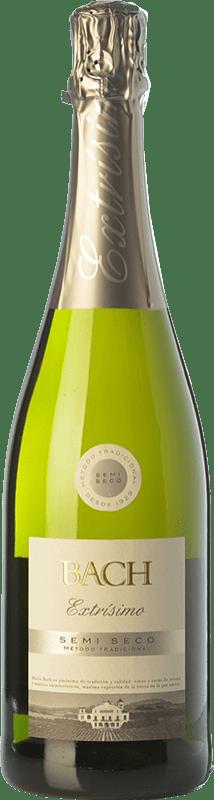 5,95 € Free Shipping | White sparkling Bach Extrísimo Semi Dry Joven D.O. Cava Catalonia Spain Macabeo, Xarel·lo, Parellada Bottle 75 cl