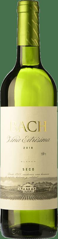 5,95 € Free Shipping | White wine Bach Viña Extrísima Seco Joven D.O. Catalunya Catalonia Spain Macabeo, Xarel·lo, Chardonnay Bottle 75 cl