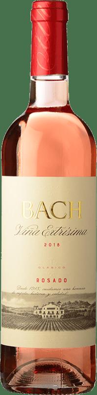 4,95 € Free Shipping | Rosé wine Bach Viña Extrísima Seco Joven D.O. Catalunya Catalonia Spain Tempranillo, Merlot, Cabernet Sauvignon Bottle 75 cl