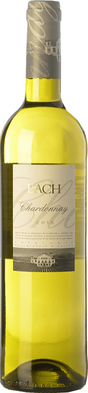 5,95 € Free Shipping | White wine Bach D.O. Penedès Catalonia Spain Chardonnay Bottle 75 cl