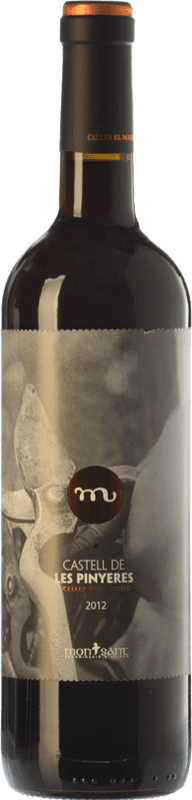 11,95 € Envío gratis | Vino tinto Masroig Castell de les Pinyeres Crianza D.O. Montsant Cataluña España Tempranillo, Merlot, Garnacha, Cabernet Sauvignon, Samsó Botella 75 cl