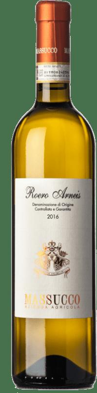 12,95 € Free Shipping | White wine Massucco D.O.C.G. Roero Piemonte Italy Arneis Bottle 75 cl