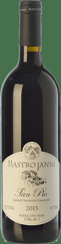 26,95 € Envío gratis | Vino tinto Mastrojanni San Pio I.G.T. Toscana Toscana Italia Cabernet Sauvignon, Sangiovese Botella 75 cl
