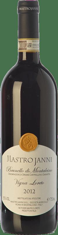 126,95 € Envío gratis | Vino tinto Mastrojanni Vigna Loreto D.O.C.G. Brunello di Montalcino Toscana Italia Sangiovese Botella 75 cl