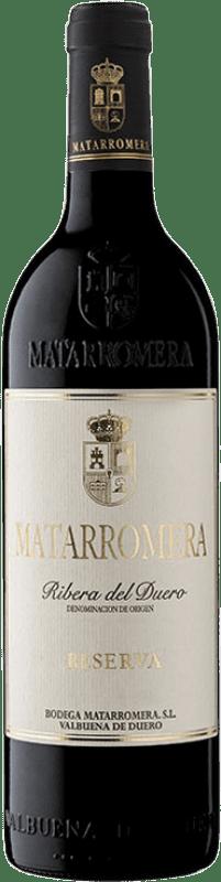 44,95 € 免费送货 | 红酒 Matarromera Reserva D.O. Ribera del Duero 卡斯蒂利亚莱昂 西班牙 Tempranillo 瓶子 75 cl