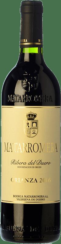 53,95 € Envío gratis | Vino tinto Matarromera Crianza D.O. Ribera del Duero Castilla y León España Tempranillo Botella Mágnum 1,5 L