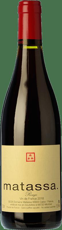 38,95 € | Red wine Matassa Rouge Reserva I.G.P. Vin de Pays Côtes Catalanes Languedoc-Roussillon France Carignan Bottle 75 cl