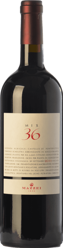 74,95 € Free Shipping | Red wine Mazzei Mix 36 I.G.T. Toscana Tuscany Italy Sangiovese Bottle 75 cl