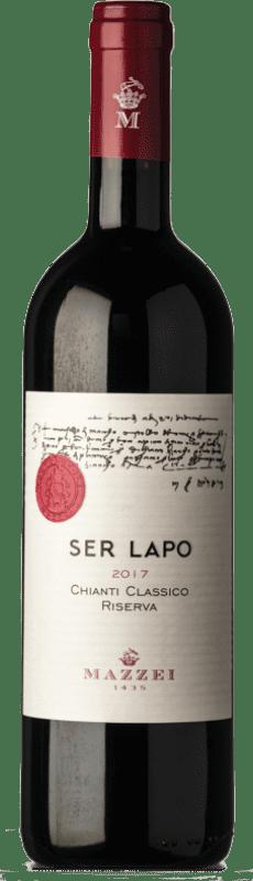 23,95 € Free Shipping | Red wine Mazzei Ser Lapo Riserva Privata Reserva D.O.C.G. Chianti Classico Tuscany Italy Merlot, Cabernet Sauvignon, Sangiovese Bottle 75 cl