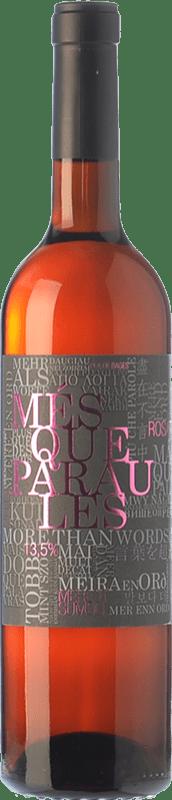 9,95 € Envío gratis | Vino rosado Més Que Paraules Rosat D.O. Pla de Bages Cataluña España Merlot, Sumoll Botella 75 cl