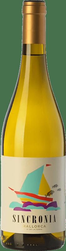 13,95 € Free Shipping   White wine Mesquida Mora Sincronia Blanc I.G.P. Vi de la Terra de Mallorca Balearic Islands Spain Chardonnay, Parellada, Premsal Bottle 75 cl