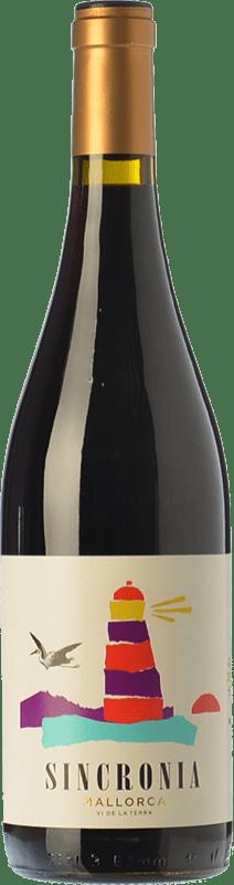12,95 € | Red wine Mesquida Mora Sincronia Negre Joven I.G.P. Vi de la Terra de Mallorca Balearic Islands Spain Merlot, Syrah, Callet, Mantonegro Bottle 75 cl