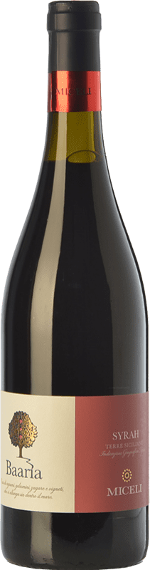 7,95 € Free Shipping | Red wine Miceli Baaria I.G.T. Terre Siciliane Sicily Italy Syrah Bottle 75 cl