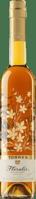 8,95 € Envío gratis | Vino dulce Torres Floralis Moscatel Oro España Moscatel de Alejandría Media Botella 50 cl