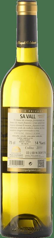 21,95 € Free Shipping | White wine Miquel Gelabert Sa Vall Selecció Privada Crianza D.O. Pla i Llevant Balearic Islands Spain Viognier, Giró White Bottle 75 cl