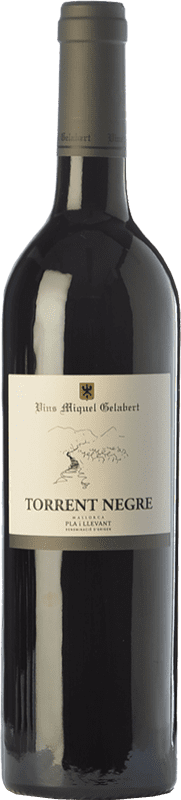 16,95 € Free Shipping | Red wine Miquel Gelabert Torrent Negre Crianza D.O. Pla i Llevant Balearic Islands Spain Merlot, Syrah, Cabernet Sauvignon Bottle 75 cl