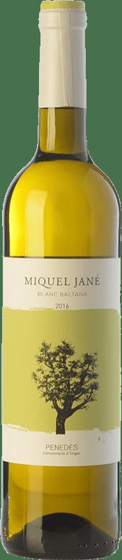 6,95 € Free Shipping | White wine Miquel Jané Baltana Blanc Crianza D.O. Penedès Catalonia Spain Macabeo, Sauvignon White, Parellada Bottle 75 cl
